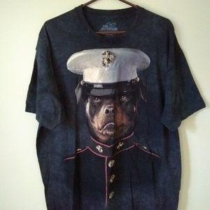Marine Corps Rottweiler Dog Military Shirt Tee XL